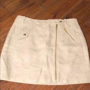 J Crew linen skirt size